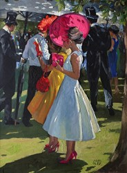 Ladies Day, Ascot by Sherree Valentine Daines -  sized 19x24 inches. Available from Whitewall Galleries